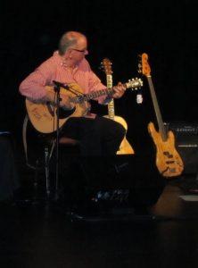 James playing the DCF raffle guitar